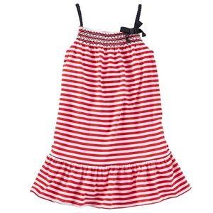 Tod Girls Striped 4th of July Dress Sz 3T NWT
